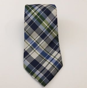 Nautica Men's Tie 100% Silk Blue, Green Necktie
